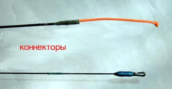 как привязать леску к маховой удочке с веревкой